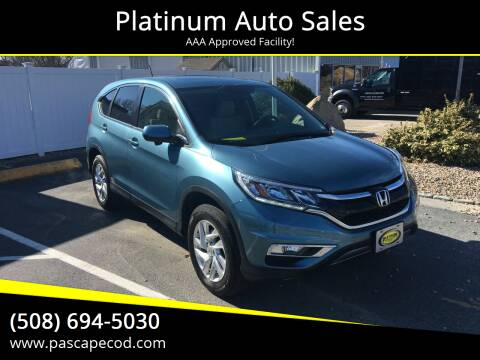 2016 Honda CR-V for sale at Platinum Auto Sales in South Yarmouth MA