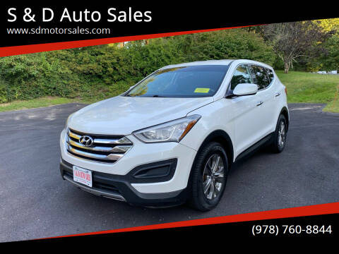 2014 Hyundai Santa Fe Sport for sale at S & D Auto Sales in Maynard MA
