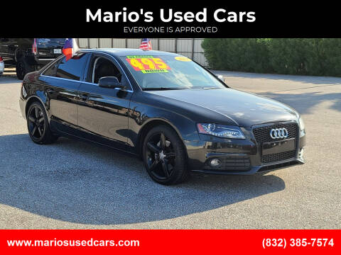 2011 Audi A4 for sale at Mario's Used Cars - Pasadena Location in Pasadena TX