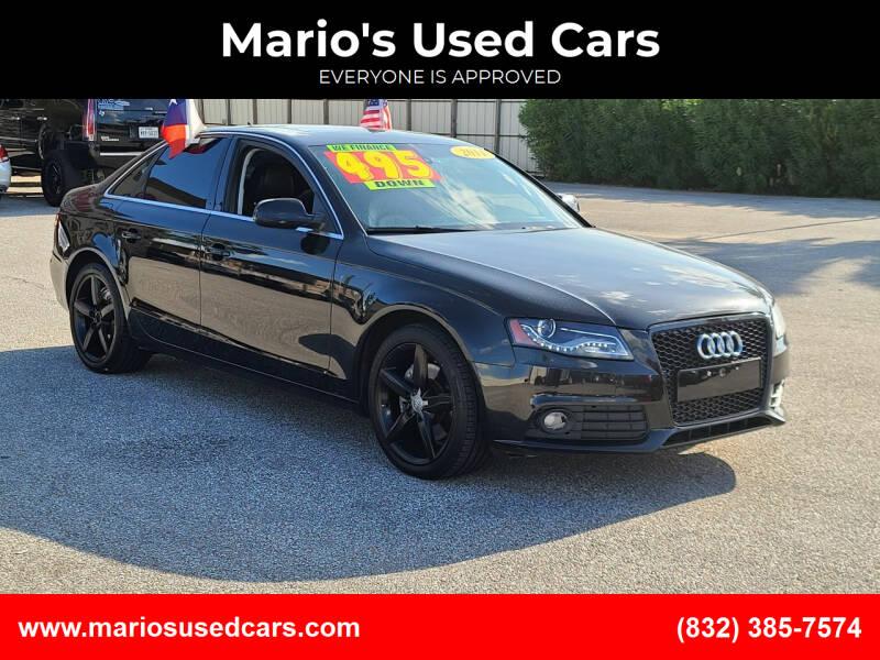 2011 Audi A4 for sale at Mario's Used Cars - Pasadena Location in Pasadena TX