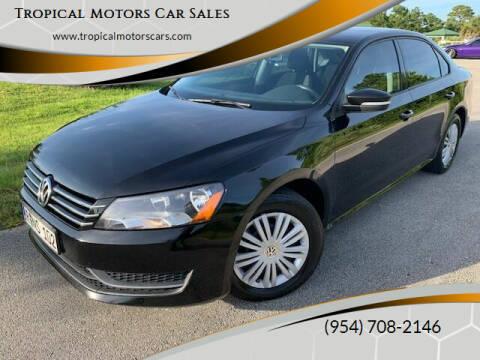 2014 Volkswagen Passat for sale at Tropical Motors Car Sales in Deerfield Beach FL