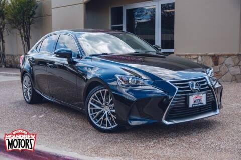 2017 Lexus IS 200t for sale at Mcandrew Motors in Arlington TX