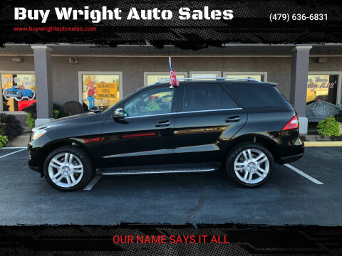 2014 Mercedes-Benz M-Class for sale at Buy Wright Auto Sales in Rogers AR