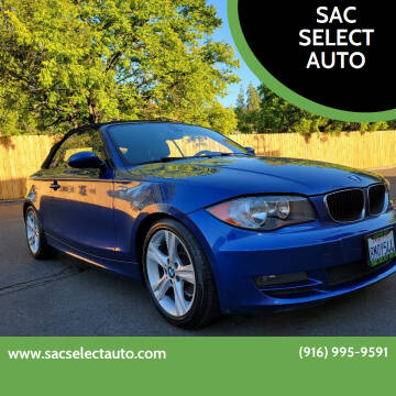 2009 BMW 1 Series for sale at SAC SELECT AUTO in Sacramento CA