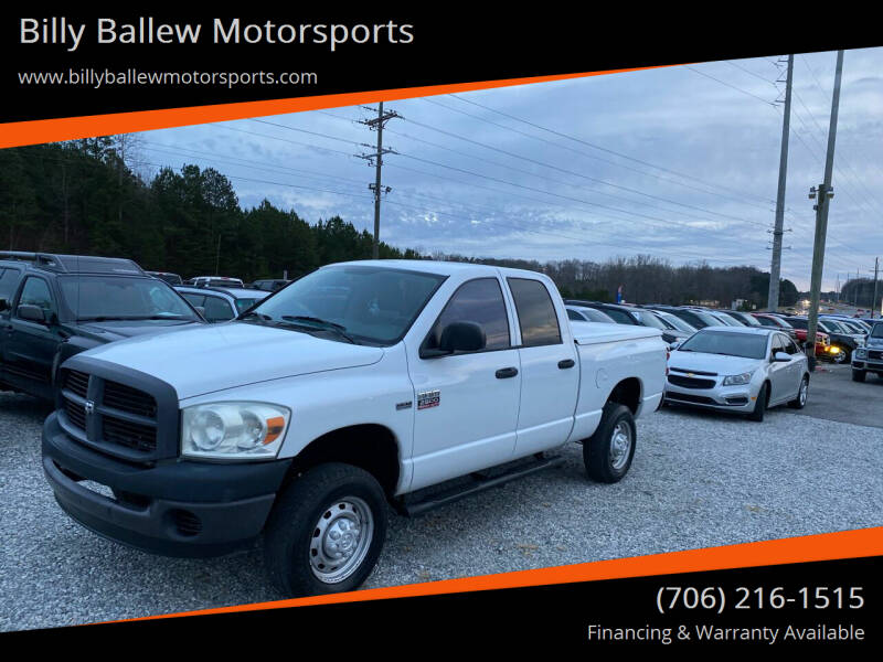 2008 Dodge Ram Pickup 2500 for sale at Billy Ballew Motorsports in Dawsonville GA