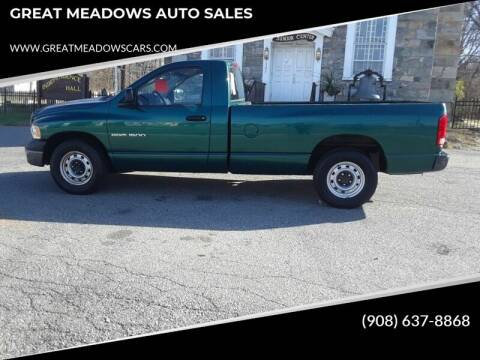 2004 Dodge Ram Pickup 1500 for sale at GREAT MEADOWS AUTO SALES in Great Meadows NJ