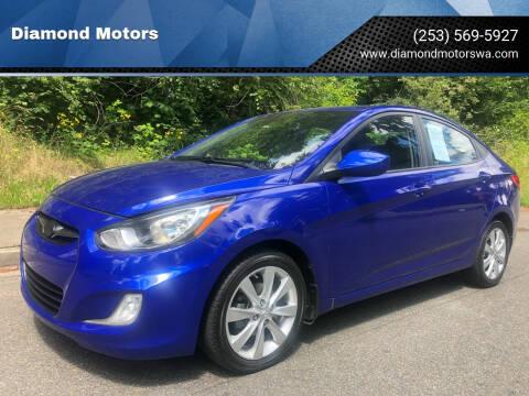 2012 Hyundai Accent for sale at Diamond Motors in Lakewood WA
