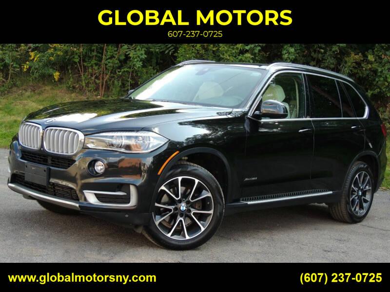 2014 BMW X5 for sale at GLOBAL MOTORS in Binghamton NY