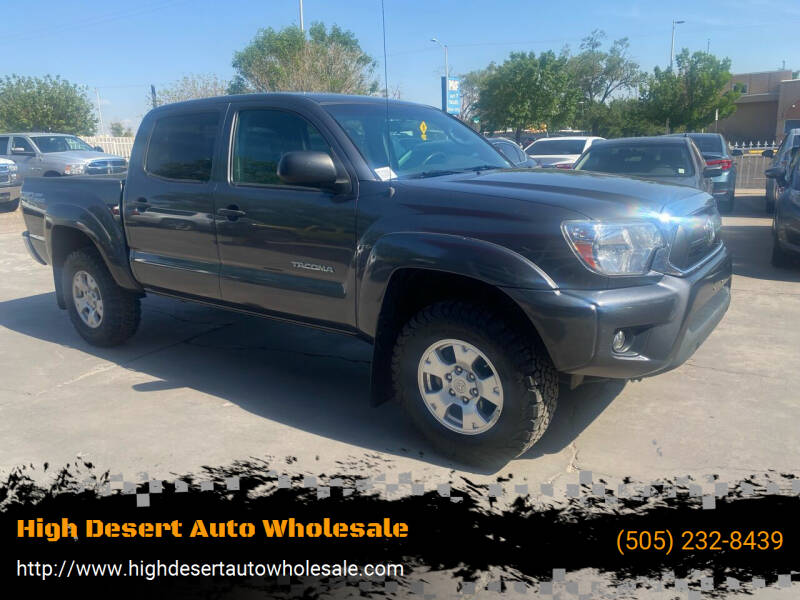 2015 Toyota Tacoma for sale at High Desert Auto Wholesale in Albuquerque NM