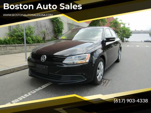 2014 Volkswagen Jetta for sale at Boston Auto Sales in Brighton MA