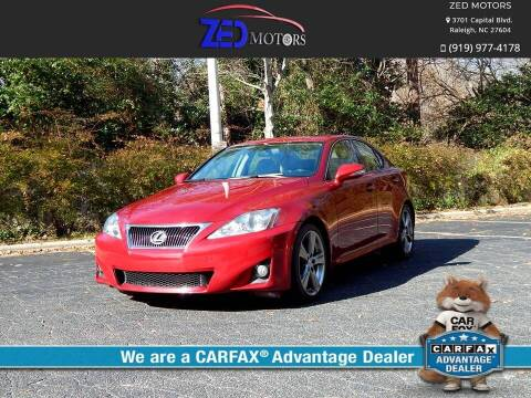 2012 Lexus IS 250 for sale at Zed Motors in Raleigh NC