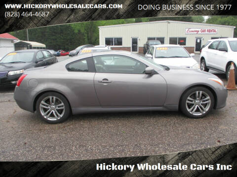 2008 Infiniti G37 for sale at Hickory Wholesale Cars Inc in Newton NC