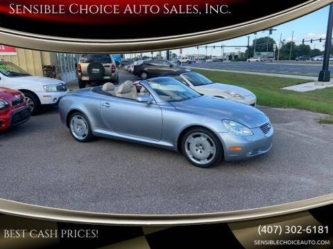 2004 Lexus SC 430 for sale at Sensible Choice Auto Sales, Inc. in Longwood FL