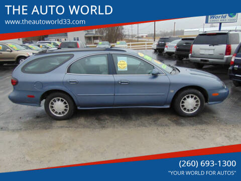1999 Ford Taurus for sale at THE AUTO WORLD in Churubusco IN