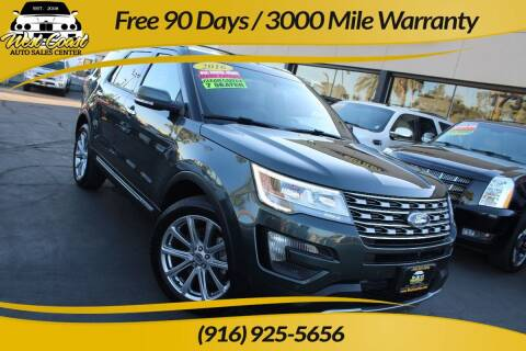 2016 Ford Explorer for sale at West Coast Auto Sales Center in Sacramento CA