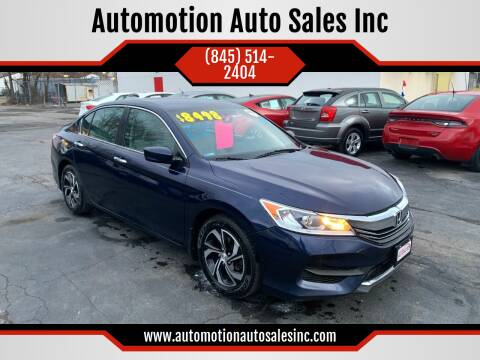 2016 Honda Accord for sale at Automotion Auto Sales Inc in Kingston NY