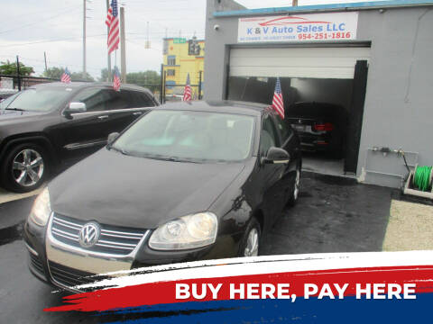 2010 Volkswagen Jetta for sale at K & V AUTO SALES LLC in Hollywood FL