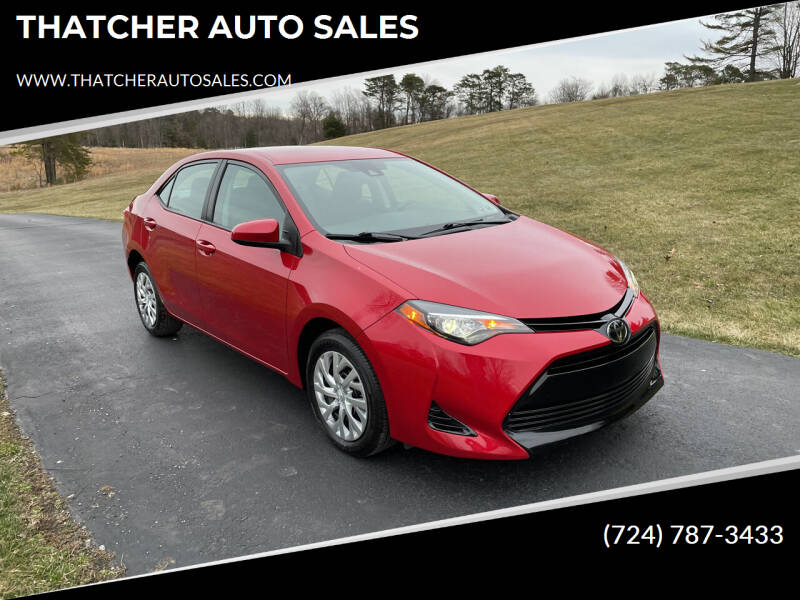 2017 Toyota Corolla for sale at THATCHER AUTO SALES in Export PA