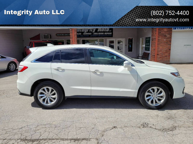 2018 Acura RDX for sale at Integrity Auto LLC - Integrity Auto 2.0 in St. Albans VT