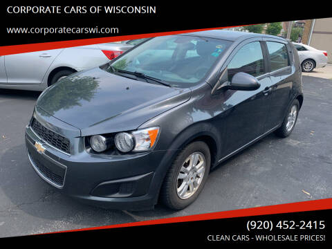 2013 Chevrolet Sonic for sale at CORPORATE CARS OF WISCONSIN in Sheboygan WI