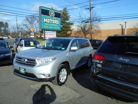 2013 Toyota Highlander for sale at Brookside Motors in Union NJ