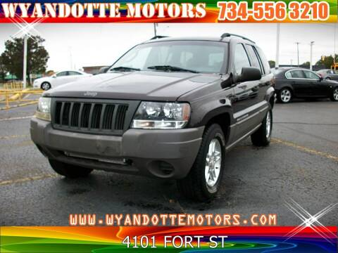 2004 Jeep Grand Cherokee for sale at Wyandotte Motors in Wyandotte MI