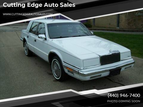 1988 Chrysler New Yorker for sale at Cutting Edge Auto Sales in Willoughby OH