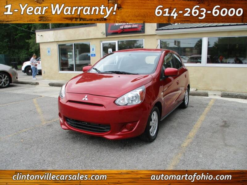 2015 Mitsubishi Mirage for sale at Clintonville Car Sales - AutoMart of Ohio in Columbus OH