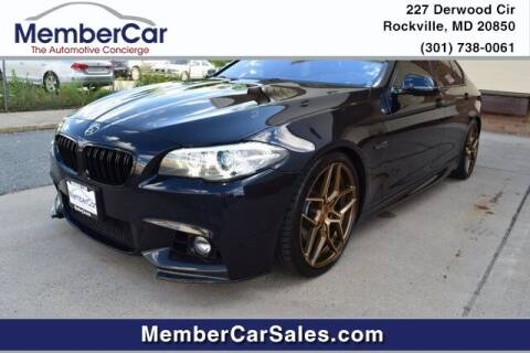 2014 BMW 5 Series for sale at MemberCar in Rockville MD