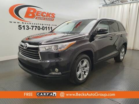 2015 Toyota Highlander for sale at Becks Auto Group in Mason OH