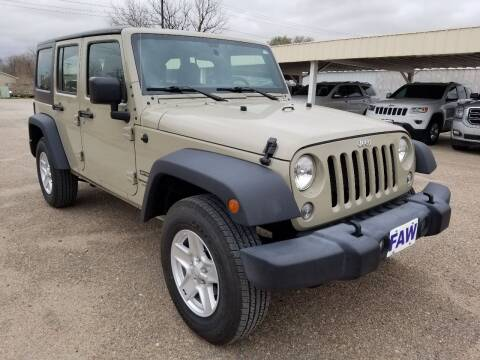 2018 Jeep Wrangler JK Unlimited for sale at Faw Motor Co - Faws Garage Inc. in Arapahoe NE