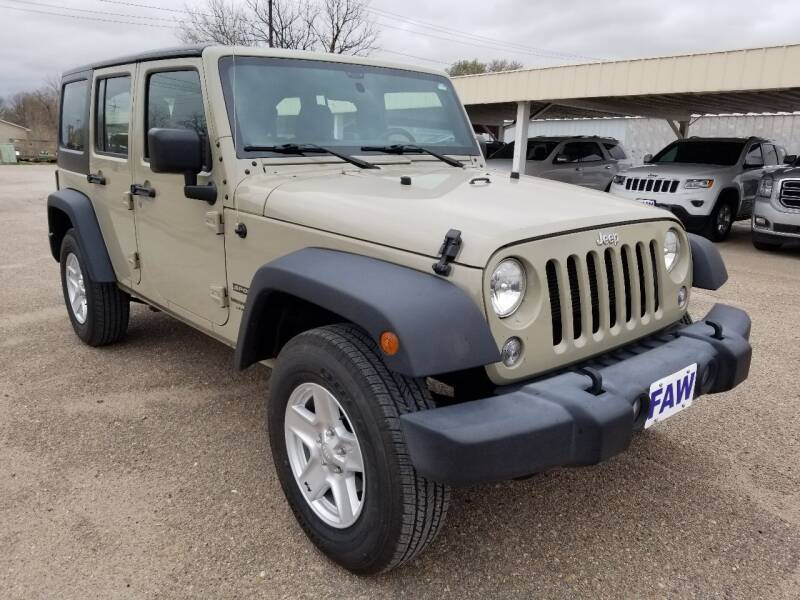 2018 Jeep Wrangler JK Unlimited for sale at Faw Motor Co - Faws Garage Inc. in Arapahoe NE