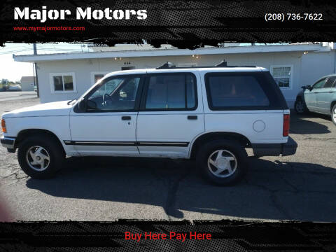 1993 Ford Explorer for sale at Major Motors in Twin Falls ID