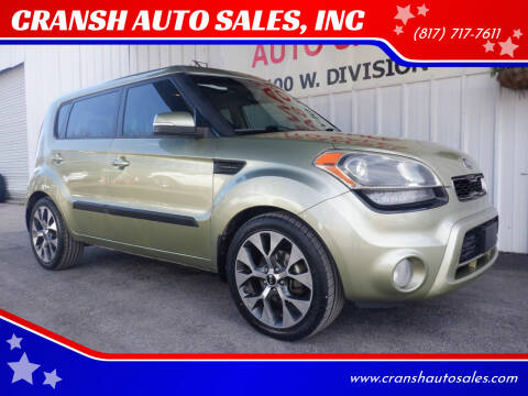 2013 Kia Soul for sale at CRANSH AUTO SALES, INC in Arlington TX