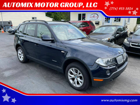 2010 BMW X3 for sale at AUTOMIX MOTOR GROUP, LLC in Swansea MA