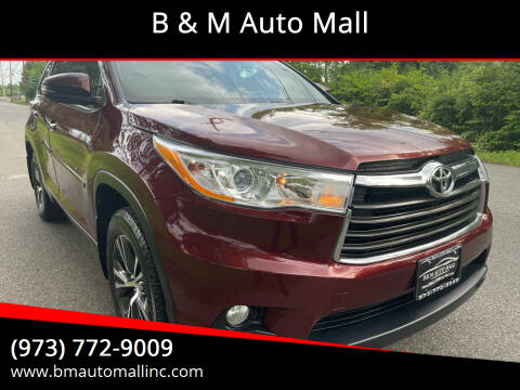 2016 Toyota Highlander for sale at B & M Auto Mall in Clifton NJ