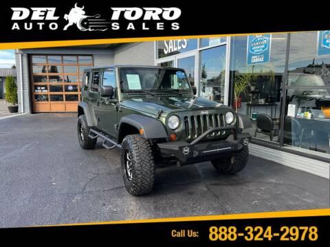 2008 Jeep Wrangler Unlimited for sale at DEL TORO AUTO SALES in Auburn WA