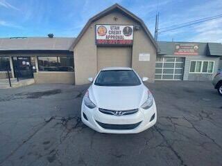 2013 Hyundai Elantra for sale at Utah Credit Approval Auto Sales in Murray UT
