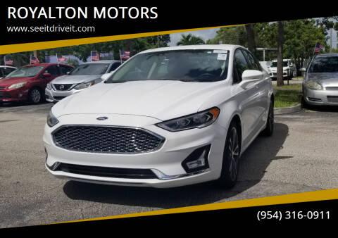 2019 Ford Fusion for sale at ROYALTON MOTORS in Plantation FL