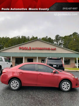 2018 Toyota Corolla for sale at Poole Automotive -Moore County in Aberdeen NC
