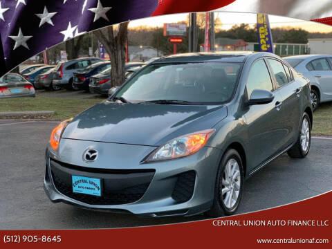 2012 Mazda MAZDA3 for sale at Central Union Auto Finance LLC in Austin TX