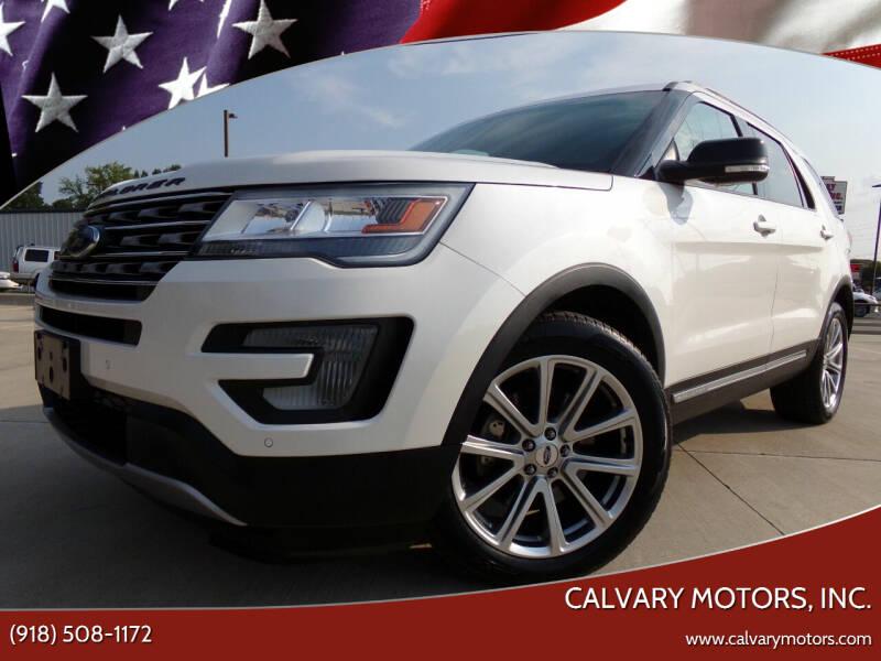 2016 Ford Explorer for sale at Calvary Motors, Inc. in Bixby OK