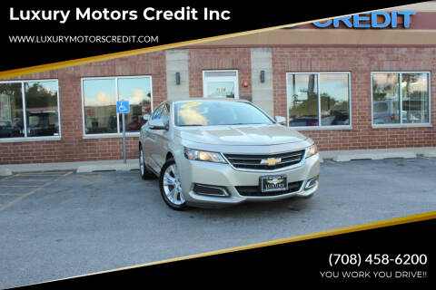 2015 Chevrolet Impala for sale at Luxury Motors Credit Inc in Bridgeview IL