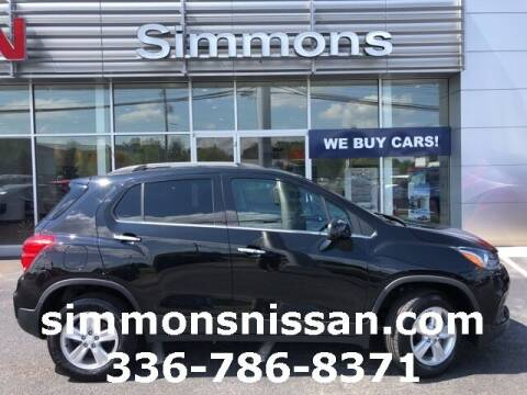 2019 Chevrolet Trax for sale at SIMMONS NISSAN INC in Mount Airy NC
