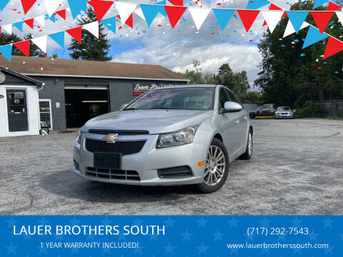 2012 Chevrolet Cruze for sale at LAUER BROTHERS SOUTH in York PA
