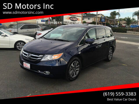2016 Honda Odyssey for sale at SD Motors Inc in La Mesa CA