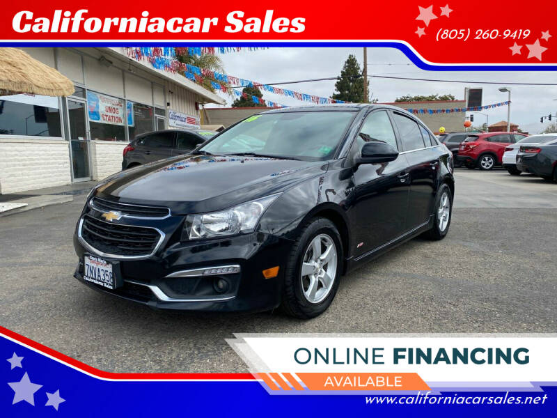 2016 Chevrolet Cruze Limited for sale at Californiacar Sales in Santa Maria CA