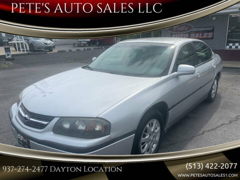 2000 Chevrolet Impala for sale at PETE'S AUTO SALES LLC - Dayton in Dayton OH