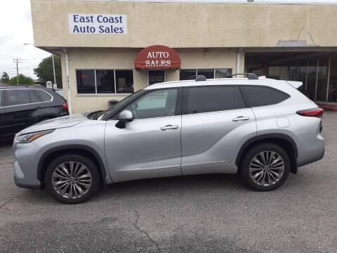 2020 Toyota Highlander for sale at East Coast Auto Sales llc in Virginia Beach VA
