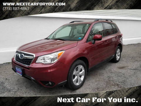 2015 Subaru Forester for sale at Next Car For You inc. in Brooklyn NY